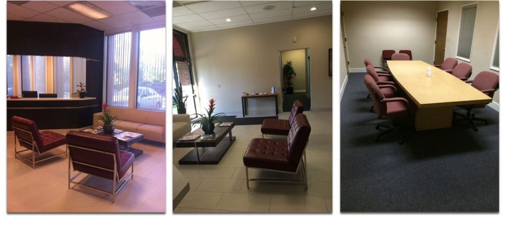 The Reception area, The Lobby and The Conference Room Facilities at the Sierra Oaks Executive Offices in Sacramento, CA